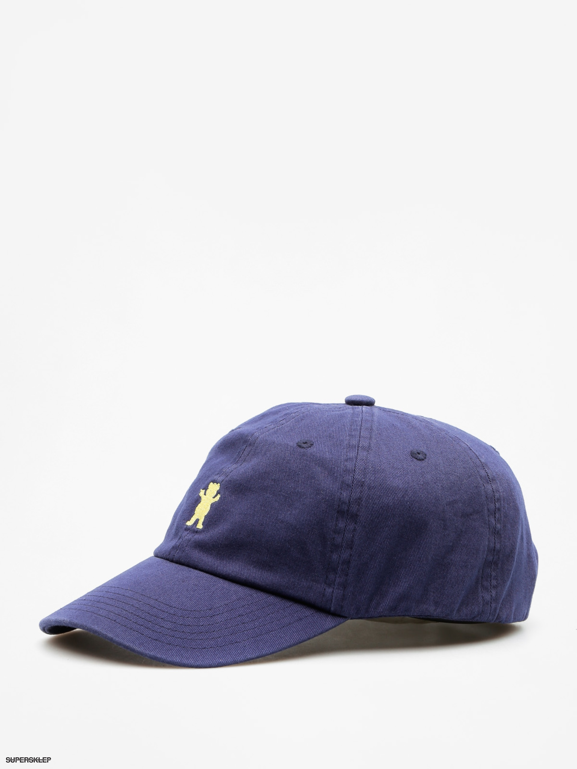 Czapka z daszkiem Grizzly Griptape Og Dad Bear Logo Hat (navy/yellow)