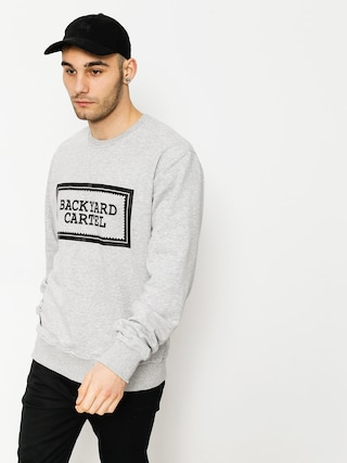 Bluza Backyard Cartel Label Logo (light heather grey)