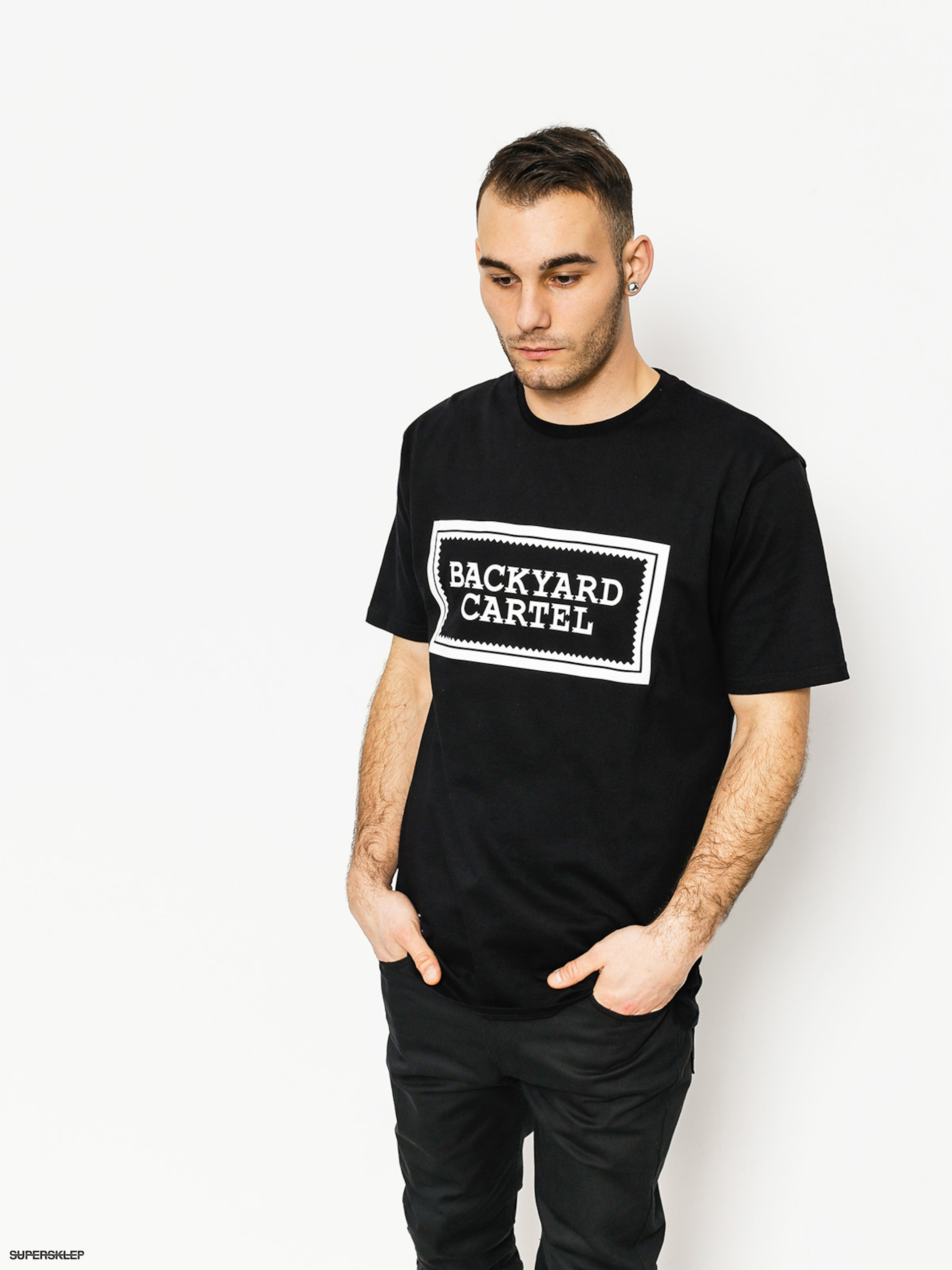 T-shirt Backyard Cartel Label Logo