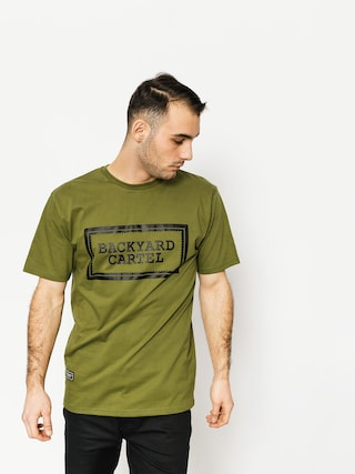T-shirt Backyard Cartel Label Logo (khaki)