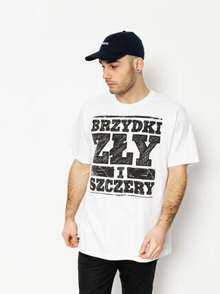 T-shirt Tabasko Brzydki i Zły Szczery (white)
