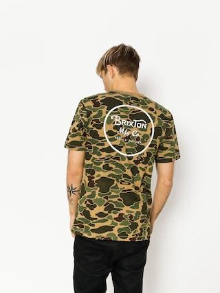 T-shirt Brixton Wheeler II Prem (olive camo)