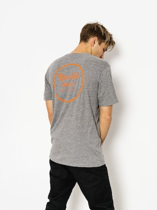 T-shirt Brixton Wheeler II Prem (heather grey/orange)