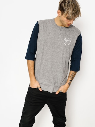 Koszulka Brixton Wheeler 3/4 Slv Henley (heather grey/navy)