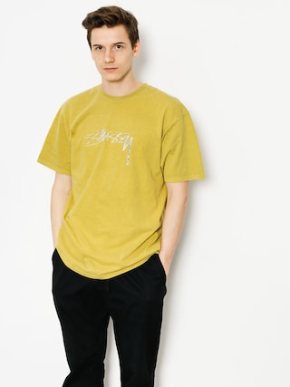 T-shirt Stussy Vintage Stock Pig Dyed (mustard)