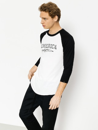 Koszulka Emerica Lucky Number Raglan (black/white)
