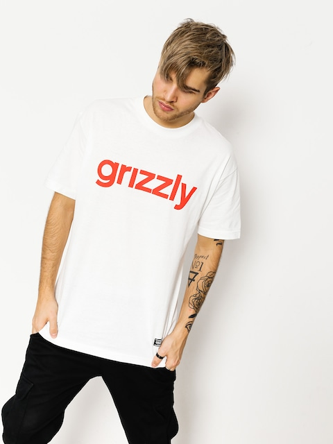 T-shirt Grizzly Griptape Lowercase (white/red)