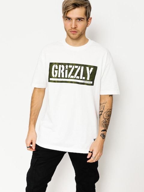 T-shirt Grizzly Griptape Forester Stamp (white)