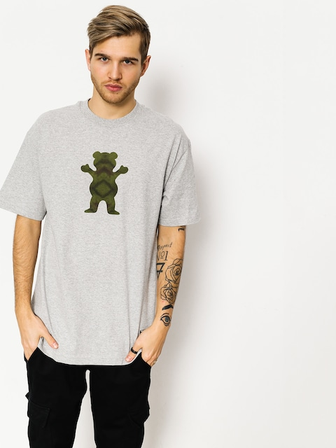 T-shirt Grizzly Griptape Forester Og Bear (heather)