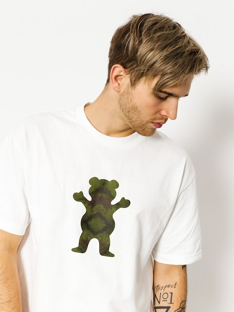 T-shirt Grizzly Griptape Forester Og Bear (white)