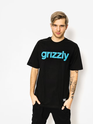 T-shirt Grizzly Griptape Lowercase (black/trq)