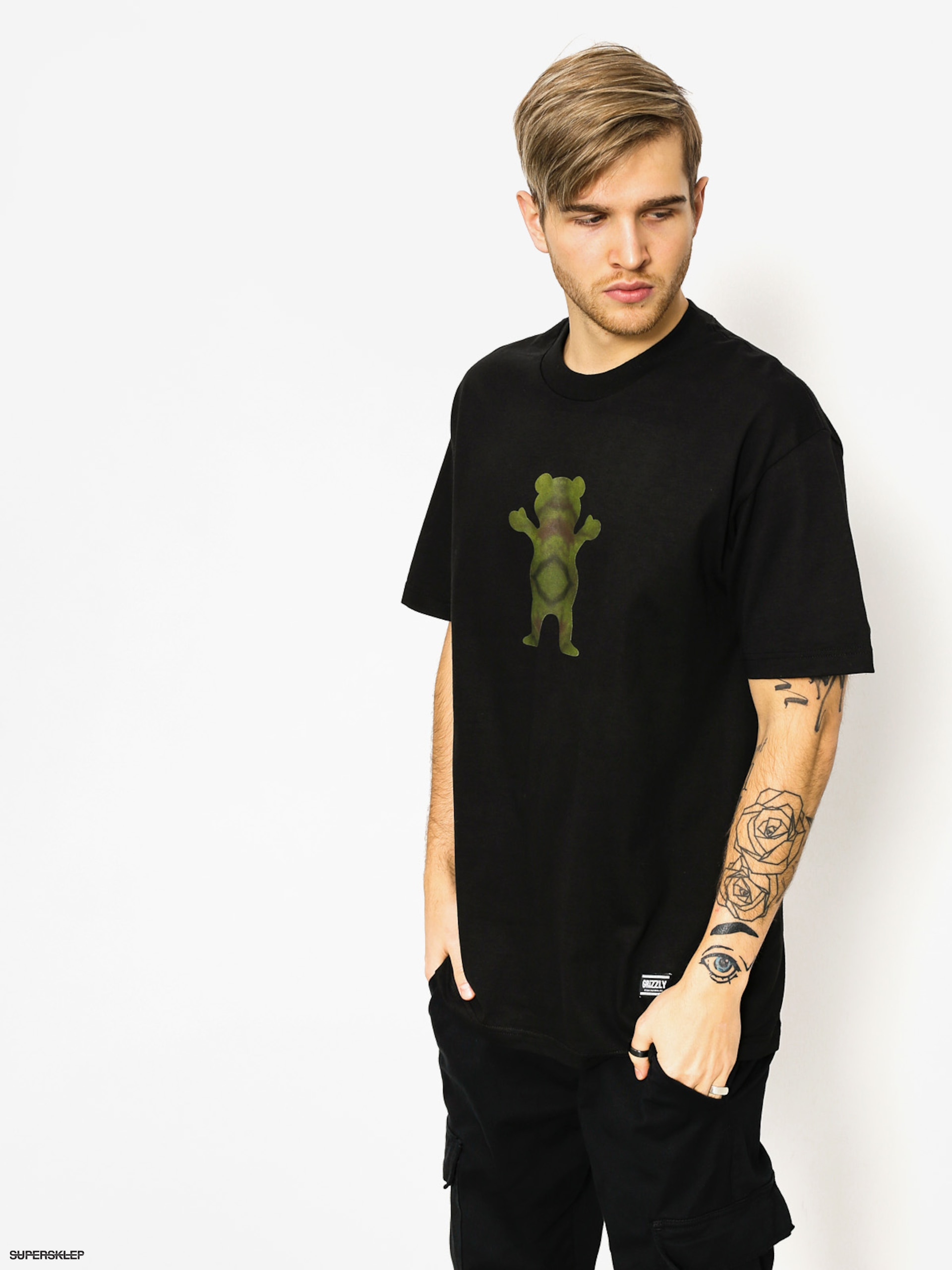 T-shirt Grizzly Griptape Forester Og Bear (black)