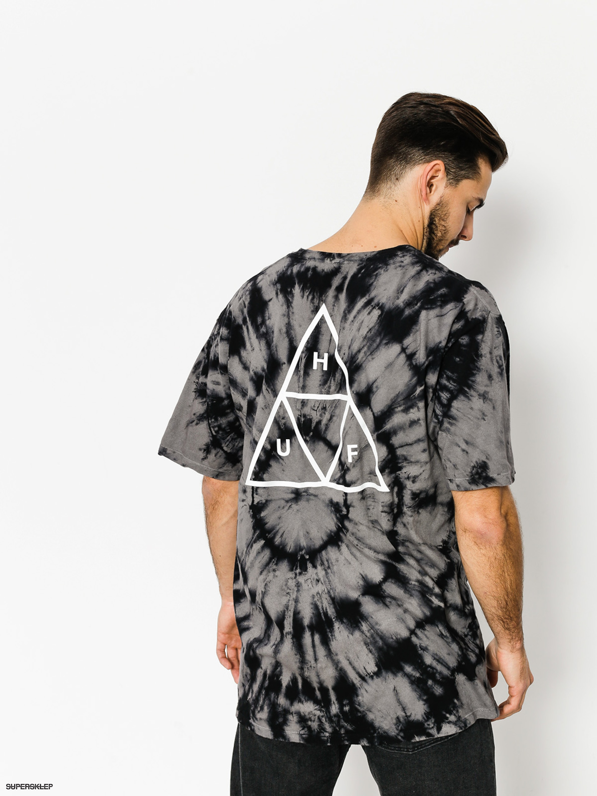 T-shirt HUF Washed Triple Triangle (black)