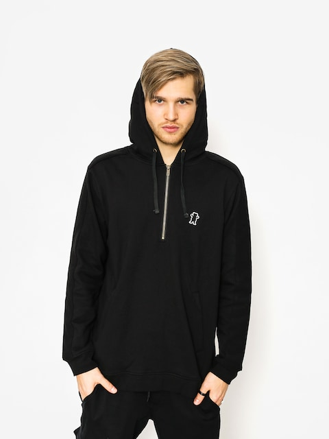 Bluza z kapturem Grizzly Griptape Citadel Half Zip HD (black)