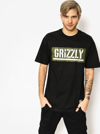 T-shirt Grizzly Griptape Forester Stamp (black)
