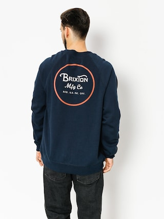 Bluza Brixton Wheeler (navy/orange)