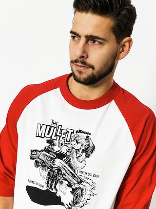 Koszulka Brixton Mullet 3/4 Slv (white/red)