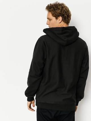 Bluza z kapturem Brixton Longman 1/2 Zip HD (washed black)