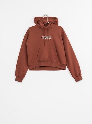 Bluza z kapturem Stussy Civil Cropped HD Wmn (rust)