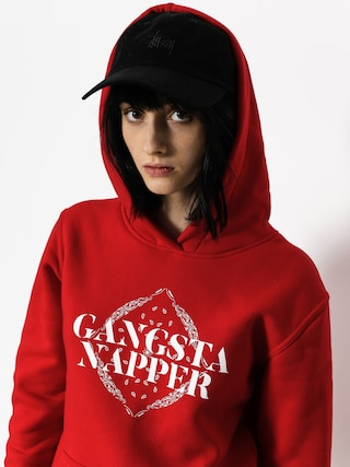 Bluza z kapturem Diamante Wear Gangsta Napper HD Wmn (red)