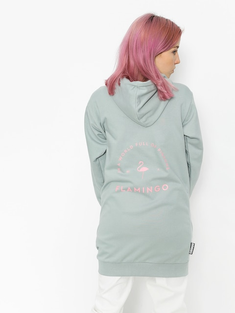 Bluza z kapturem Diamante Wear Flamingo Long ZHD Wmn (mint)