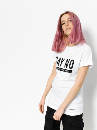 T-shirt Diamante Wear Say No Wmn (white)