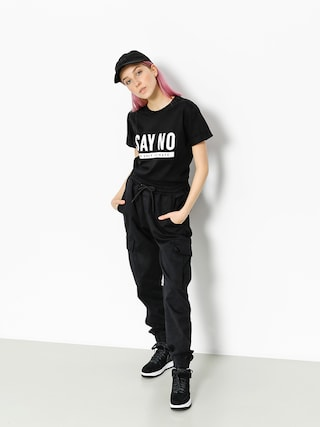 T-shirt Diamante Wear Say No Wmn (black)