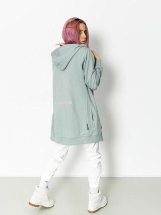 Bluza z kapturem Diamante Wear Flamingo Long ZHD Wmn (dark mint)