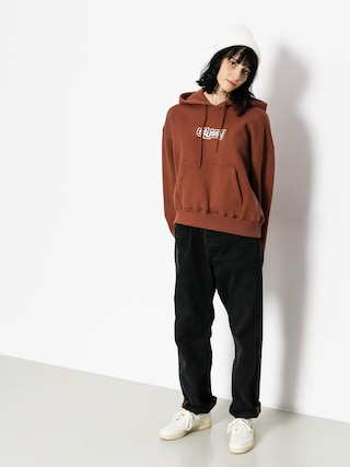 Bluza z kapturem Stussy Civil Cropped HD Wmn (rust)