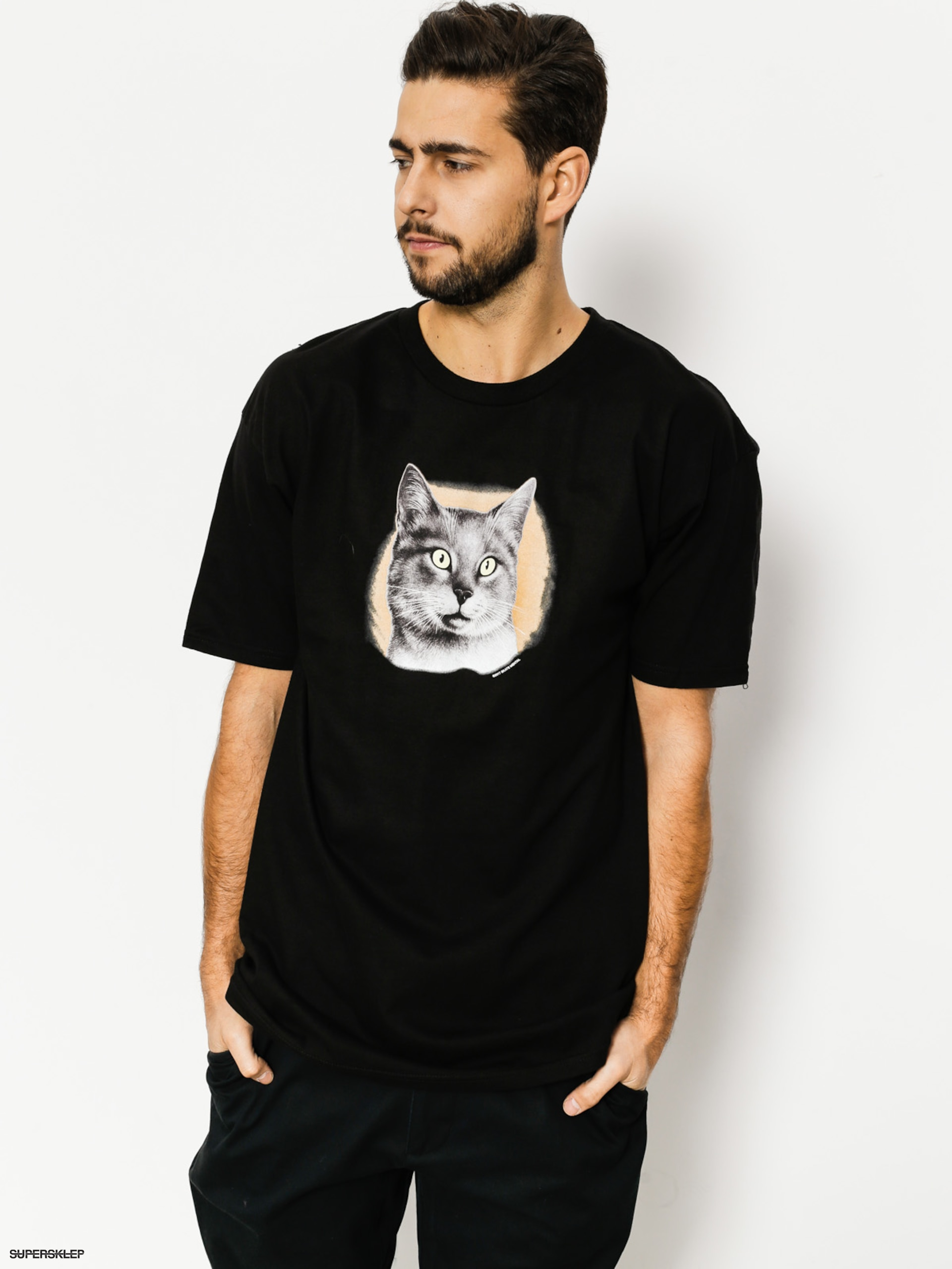 T-shirt Skate Mental Cat (black)