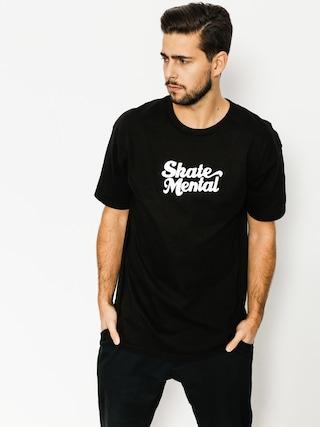 T-shirt Skate Mental Script Logo (black)