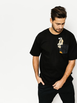 T-shirt Skate Mental Upper Decker Pocket (black)