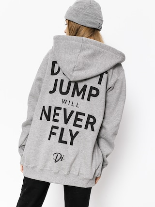 Bluza z kapturem Diamante Wear Never Fly ZHD (grey)