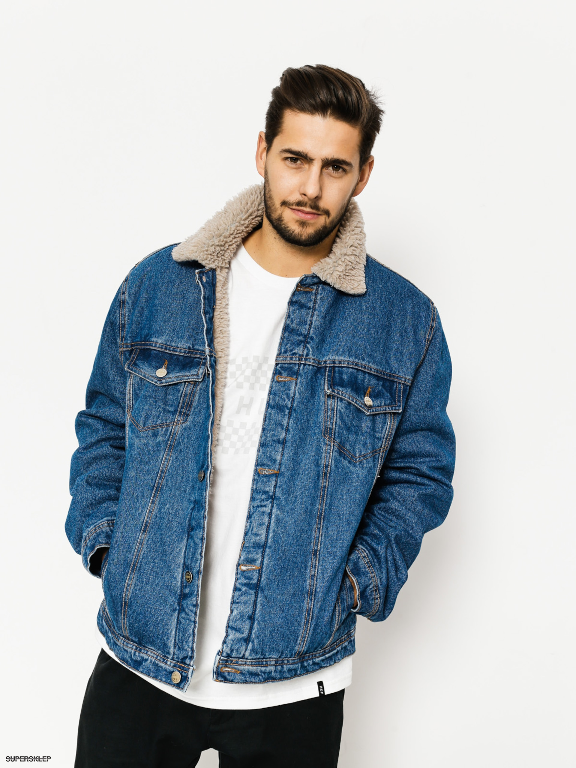 Kurtka The Hive Sherpa Denim (navy)