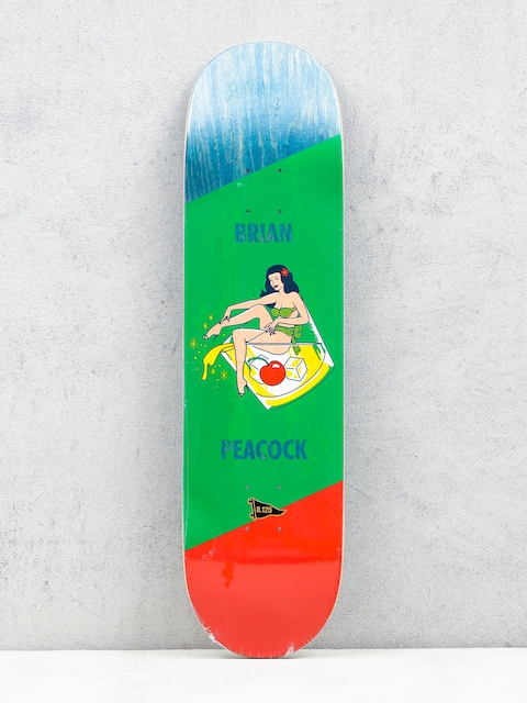 Deck Primitive Peacock Pin Up (drink/green/red)