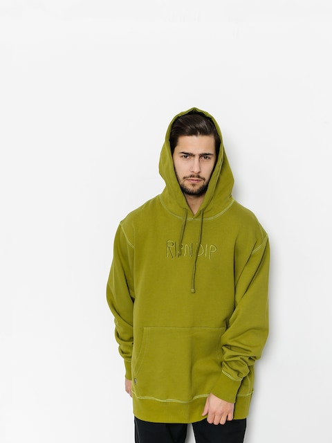 Bluza z kapturem RipNDip Logo Embroidered HD (olive)