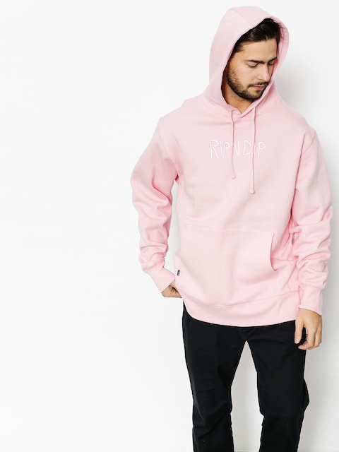 Bluza z kapturem RipNDip Logo Embroidered HD (pink)