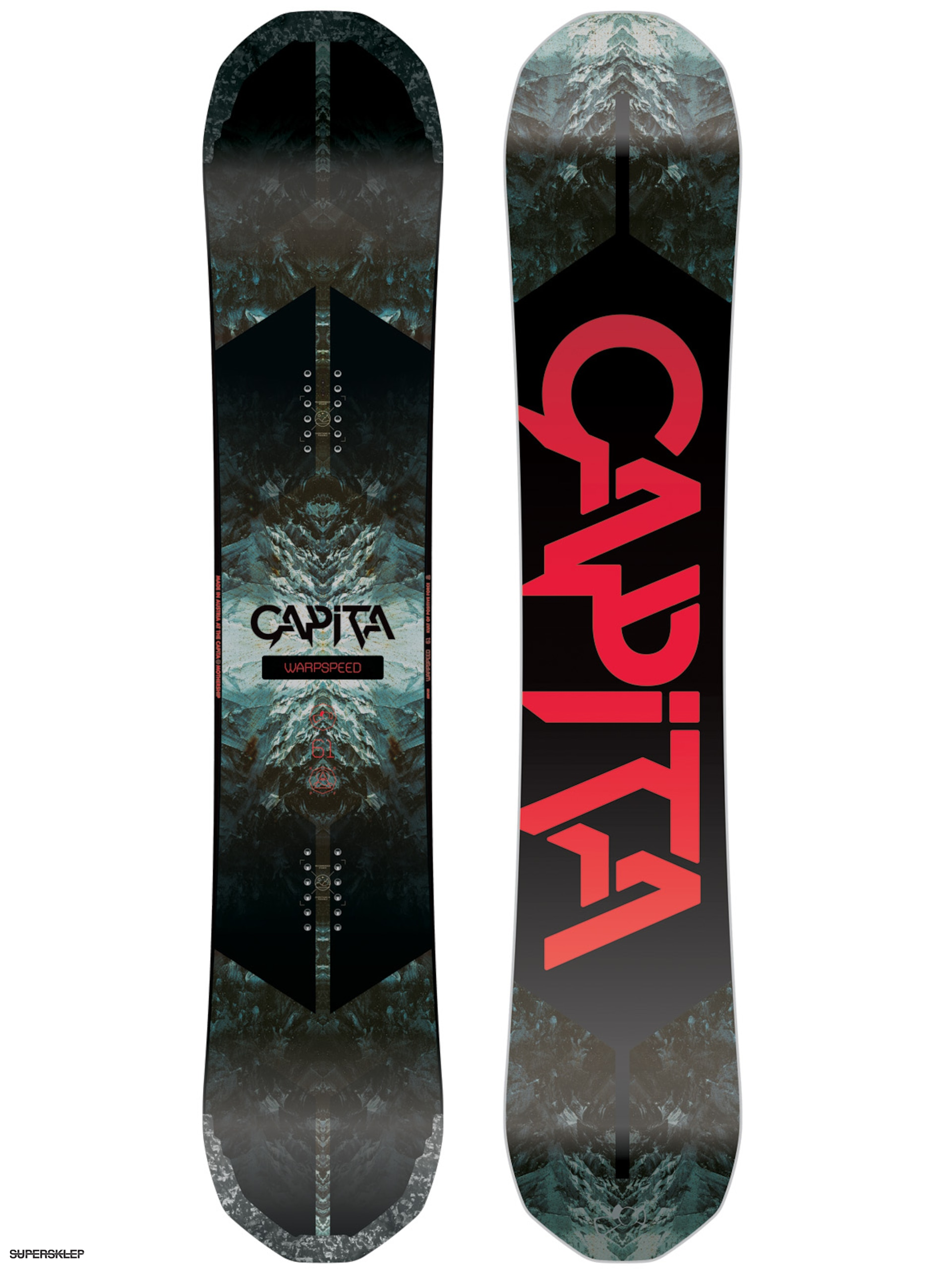 Deska snowboardowa Capita Warpspeed (white/black/red)