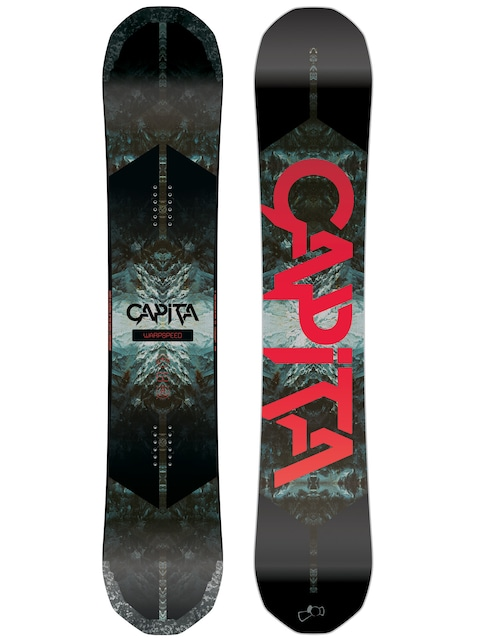 Deska snowboardowa Capita Warpspeed (black/white/red)