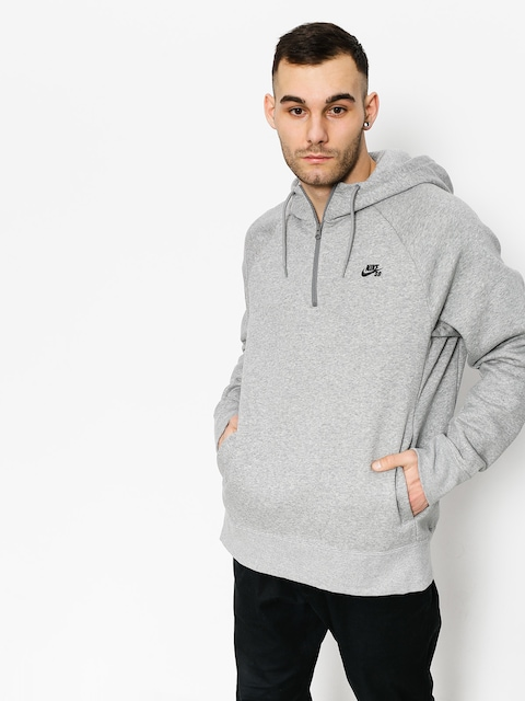 Bluza z kapturem Nike SB Hoodie Icon Hz HD (dk grey heather/black)
