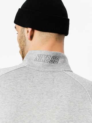Longsleeve Nike SB Top Evrt Mock Hz (dk grey heather/white/dark steel grey)