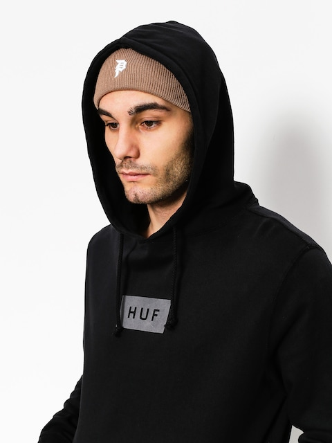 Bluza z kapturem HUF Bar Logo Overdyed HD (black)