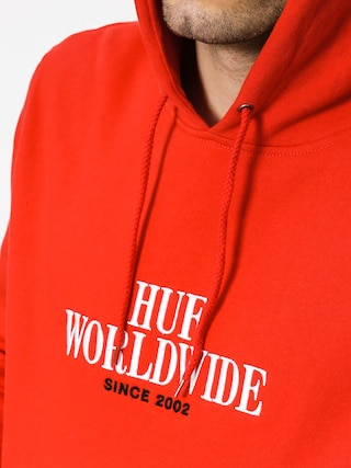 Bluza z kapturem HUF Serif Stack HD (red)
