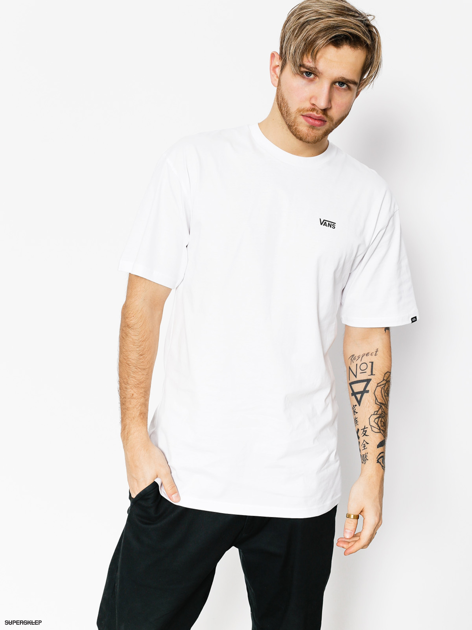 T-shirt Vans Left Chest Logo (white)
