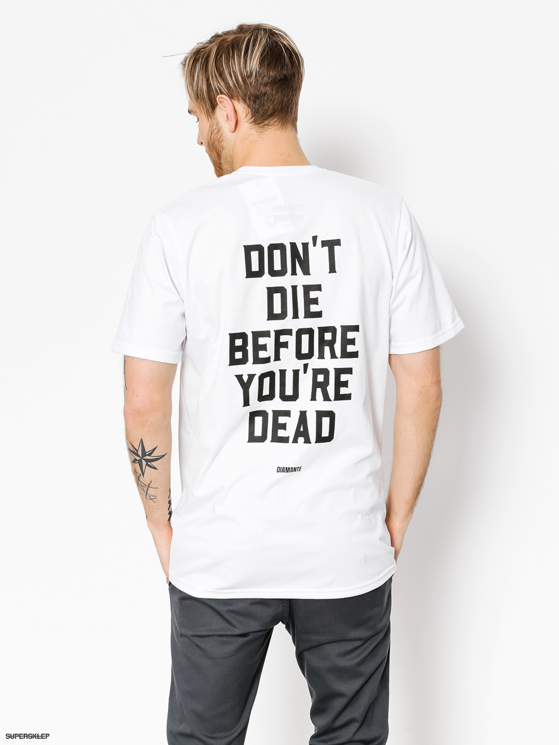 T-shirt Diamante Wear Don't Die