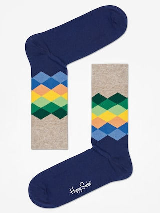 Skarpetki Happy Socks Faded Diamond (navy/multicolor)