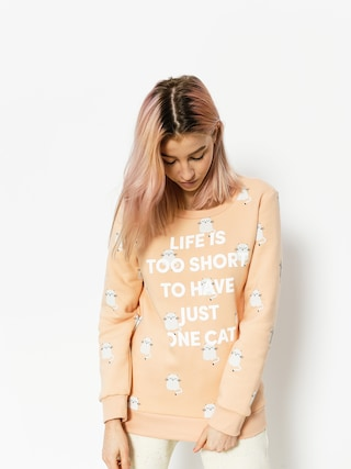 Bluza Diamante Wear Life Is Too Short Cat Wmn (salmon)