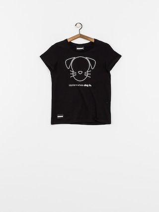 T-shirt Diamante Wear Home Is Where Dog Is Wmn (black)
