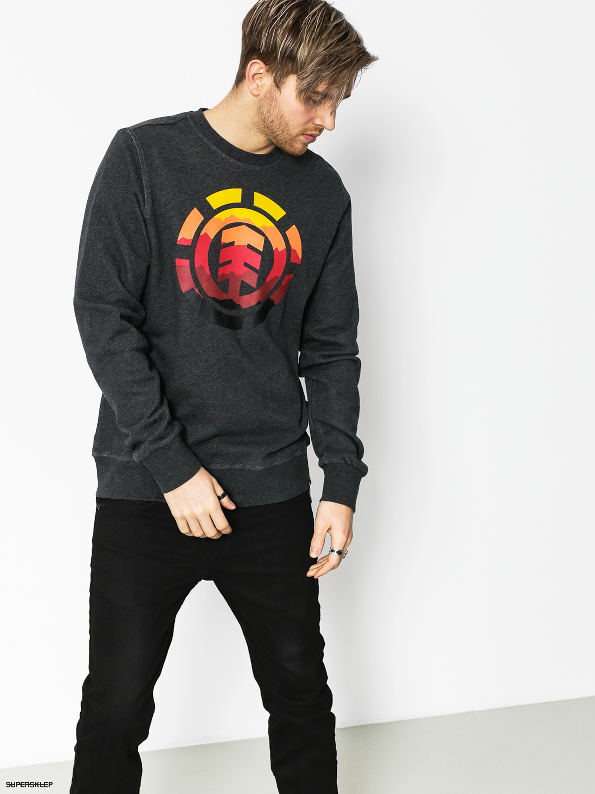 Bluza Element Logo Fill Crew (charcoal heathe)