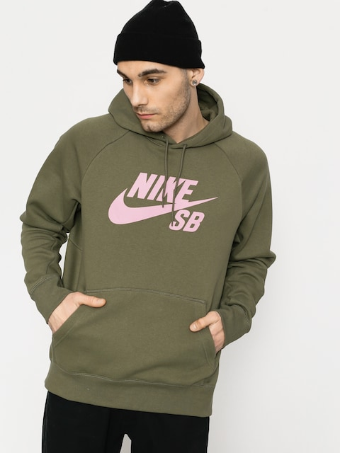 Bluza z kapturem Nike SB Sb Icon HD (medium olive/elemental pink)